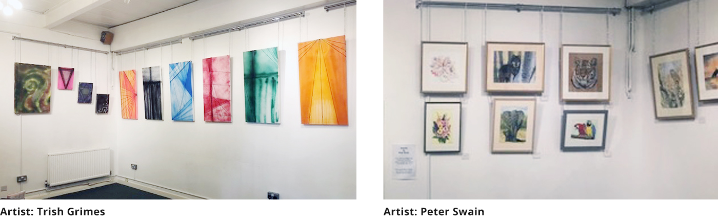 Previous displays by Trish Grimes and Peter Swain